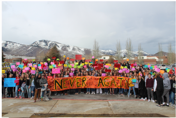 TMJH Students protest Gun Violence
