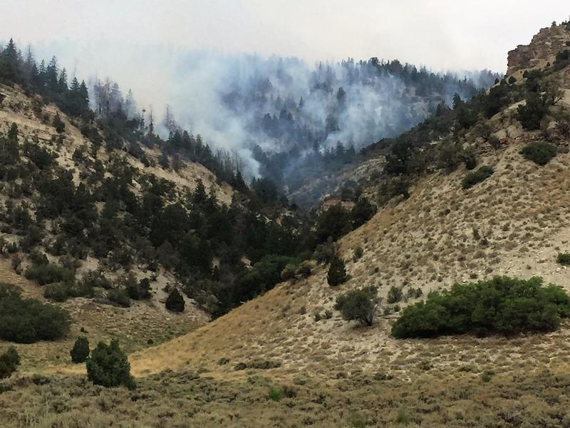 Scenes from the nearly extinguished Dollar Ridge Fire