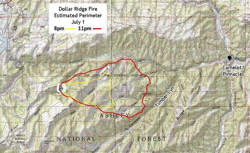 Dollar Ridge Fire Threatening Structures, With No Containment | KPCW