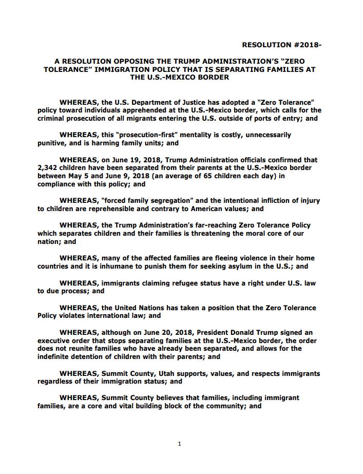 Summit County Resolution