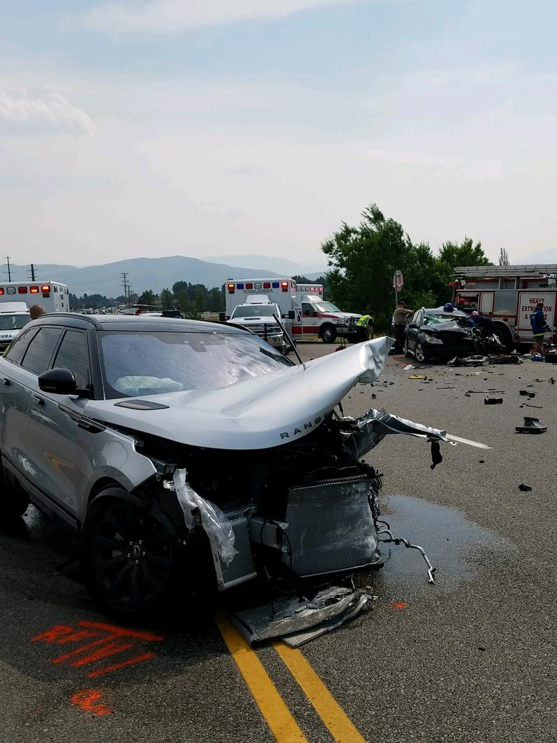 Utah Highway Patrol says this Range Rover crossed over highway 40 into oncoming traffic