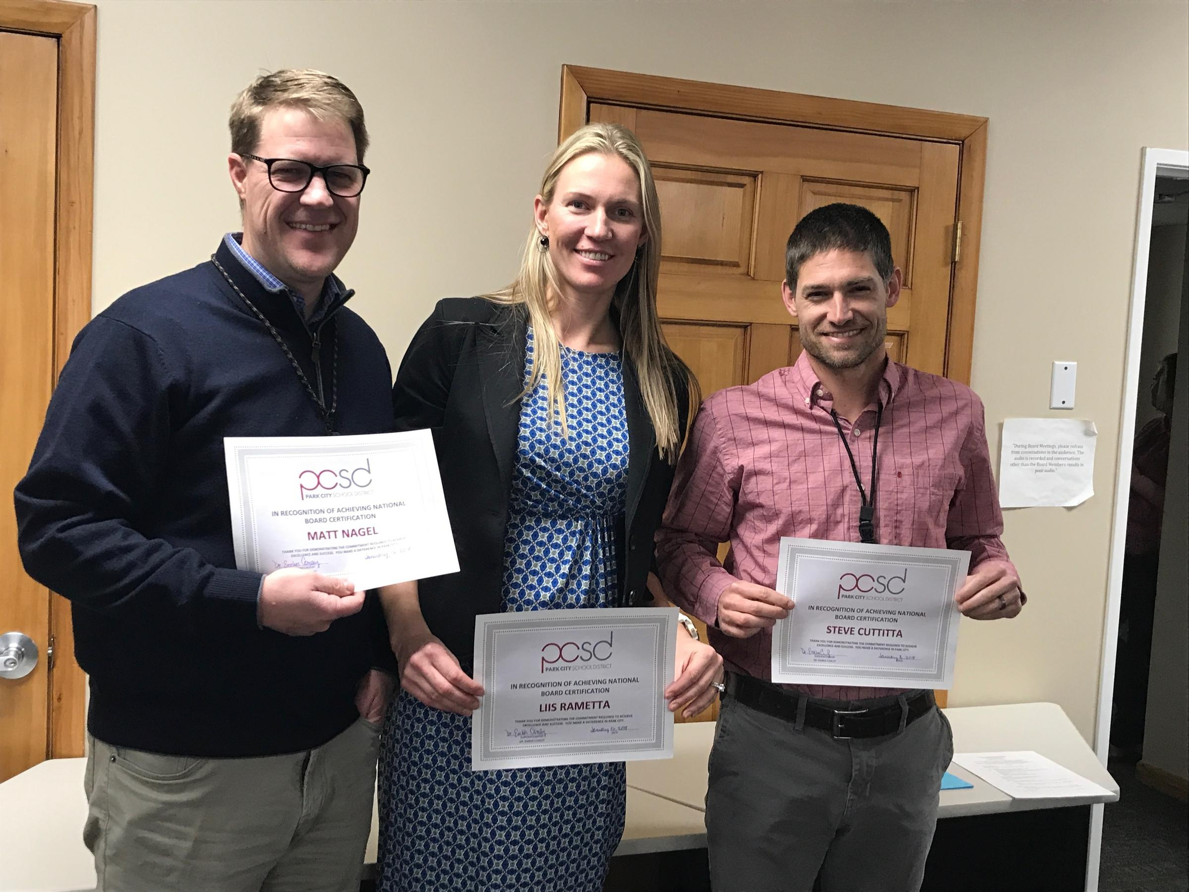 Three Park City Teachers Earn National Board Certification Kpcw