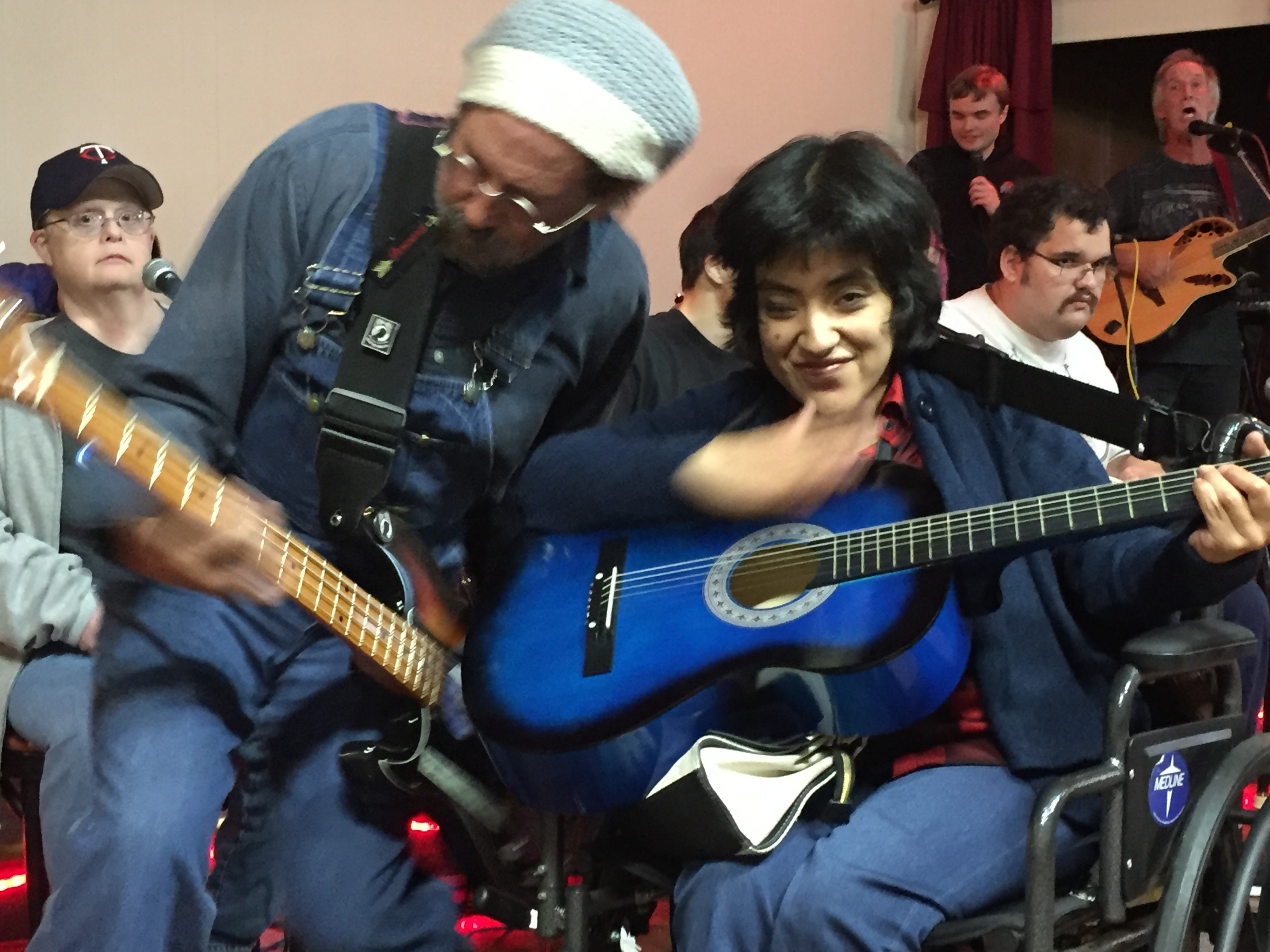 Rock band with adults with disabilities
