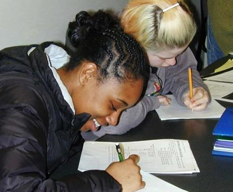 Seattle students work on math