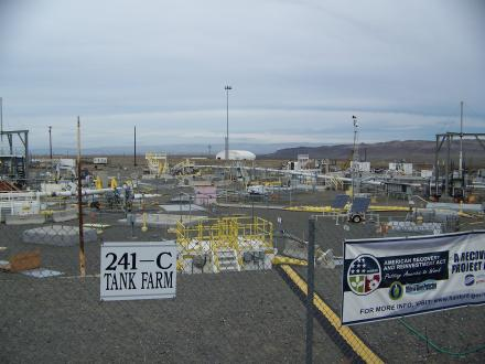 The 241-C tank farm at the Hanford Nuclear Reservation