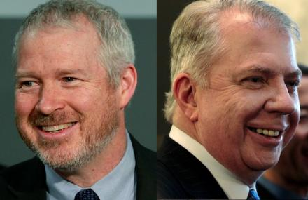 Mayor Mike McGinn, left; Sen. Ed Murray