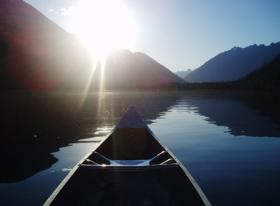Canoeing at Stehekin