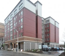 Plymouth Housing's new building for homeless people recovering from addictions opened in South Lake Union in 2013.