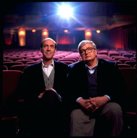 his undated file photo originally released by Disney-ABC Domestic Television, shows movie critics Roger Ebert, right, and Gene Siskel.