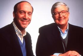 Film critics Gene Siskel, left, and RogerEbert are shown in a 1994 photo.