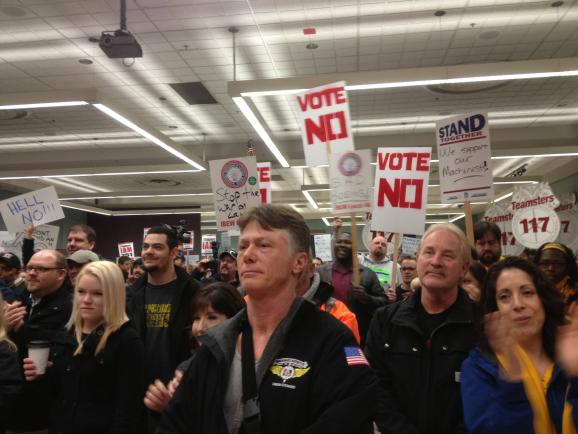 Machinists and supporters rallied against Boeing's contract offer, which passed with 51 percent of the vote.