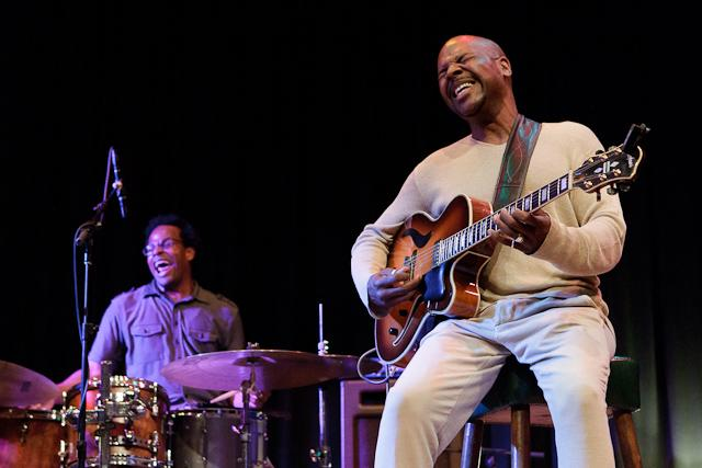 Kobie Watkins, drums, and Bobby Broom, guitar at the 2012 Ballard Jazz Festival