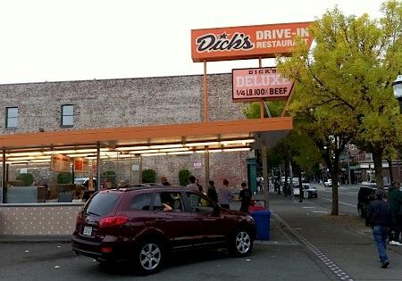 Dick's Drive-In on Broadway, in Seattle's Capitol Hill neighborhood, on a recent Saturday afternoon.