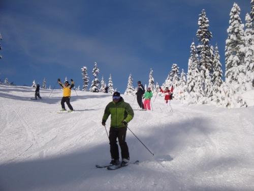 Opening day of ski season at Mount Baker