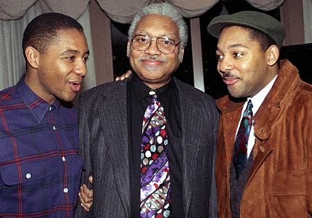 Ellis Marsalis is joined by his two sons Branford, left, and Wynton, right.