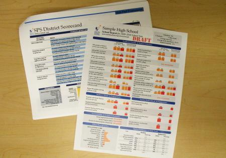 Prototype 'report cards' for each school will evaluate more than two dozen categories.