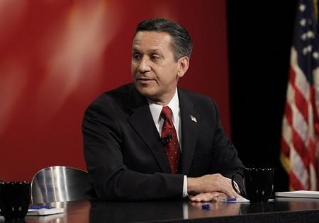 Dino Rossi (pictured here in an October debate in Seattle) conceded the US Senate race Thursday evening. Patty Murray's lead continues to grow as votes are counted.