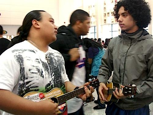 Students playing ukuleles is a common sight at Tukwila's Foster High School. The instrument is enjoying a surge in popularity.