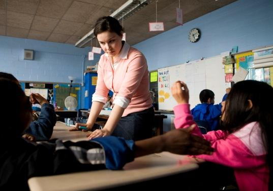 A Teach for America trainee in a Florida classroom in 2008. Seattle Schools are voting on a proposal to allow TFA corps members in their classrooms.