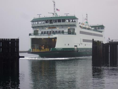 The Chetzemoka at her official first voyage on Sunday. It's the state's newest ferry, carrying 64 cars.