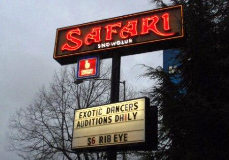 Portland's Safari Club was one strip club where a welfare debit card was used to withdraw cash.