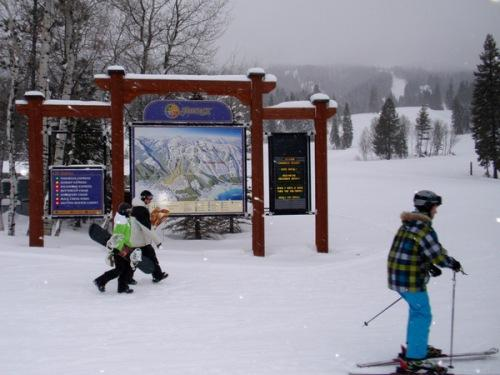 Skiiers enjoy opening day at Tamarack Resort.