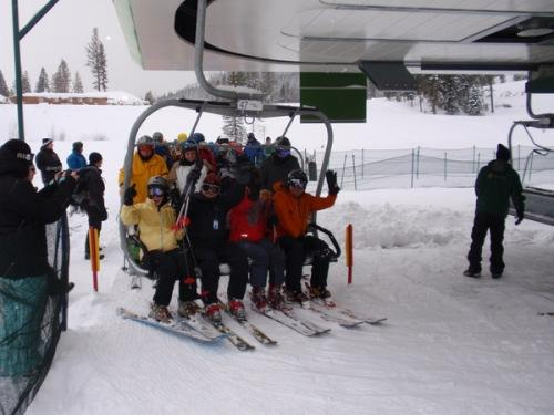 Happy skiers were greeted with 8 inches of powder on Tamarack's opening day.