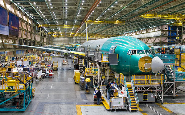 Boeing's 777 production line in Everett