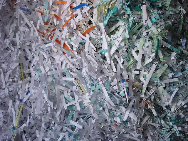 Waste Management does not accept shredded paper in residential recycling bins