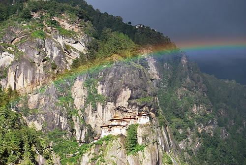 The tiny kingdom of Bhutan measures Gross National Happiness rather than GDP.
