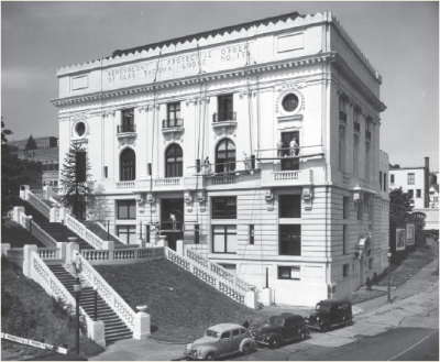Downtown Tacoma's historic Elks Lodge, seen here in its vintage fineness. Renovation plans for the building include retail shops, apartments and, perhaps, a park.
