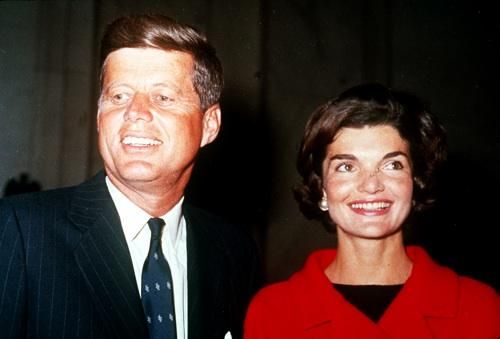 John and Jackie Kennedy, pictured here New Year's Day 1961. Did Kennedy have a 'tin ear'?