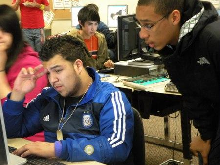 Renton High School students working on a recent edition of the student newspaper Arrow. South King County and south Seattle schools are being targeted for improvements to in student achievement.