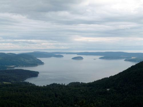 View of the San Juan Islands from Mt. Constitution on Orcas Island. The power outage that hit Monday morning is expected to be repaired by 2:30 this afternoon.