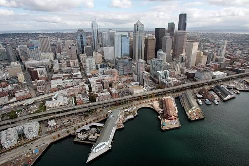 Seattle's Alaskan Way Viaduct (part of Highway 99) is moving toward replacement by a deep-bore tunnel, something Mayor Mike McGinn and others oppose.