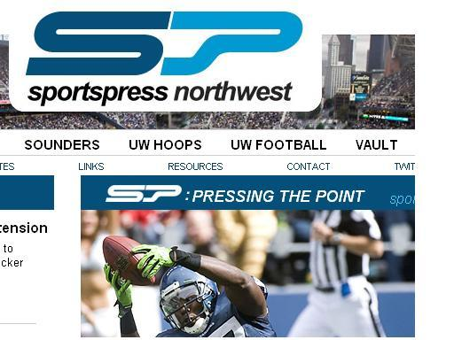 A screen shot of the new Sportspress Northwest homepage.