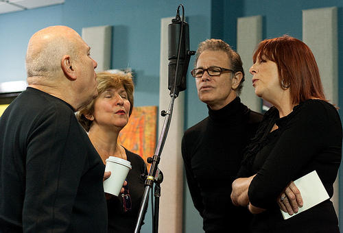 The Manhattan Transfer (Tim Hauser, Cheryl Bentyne, Alan Paul, Janis Siegal) came into the KPLU/Jazz24 performance studio ready to sing on October 21, 2010.