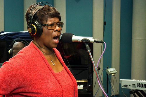 "Grammy Award-winning ""Soul Queen of New Orleans,"" Irma Thomas brought her rhythm section to the performance studio on October 29, 2010 to perform live on KPLU's Blue Plate Special hosted by Nick Morrison."