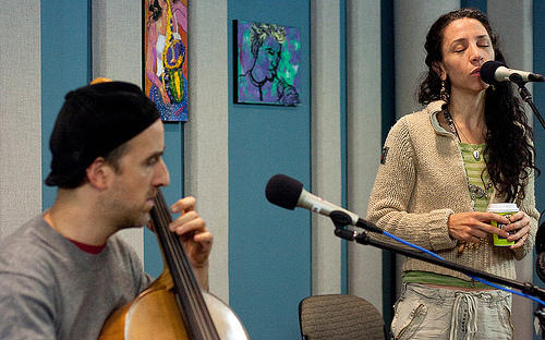 Vocalist, Bethany Yarrow, and cellist, Rufus Cappadocia gave an incredible performance in the KPLU studios on November 9, 2010.