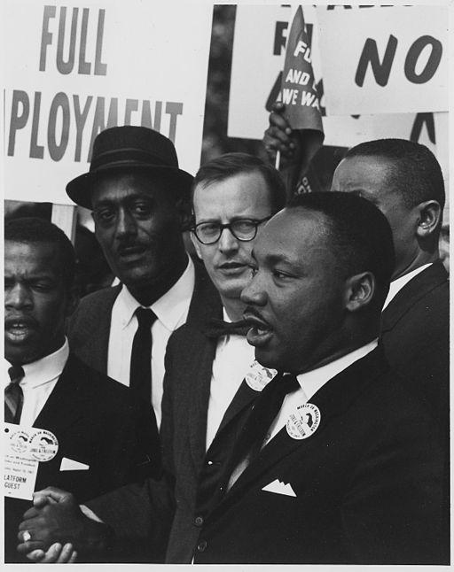 "Dr. Martin Luther King, Jr. on August 28, 1963 at the civil rights march on Washington, D.C. where he delivered his famous ""I Have a Dream"" speech."