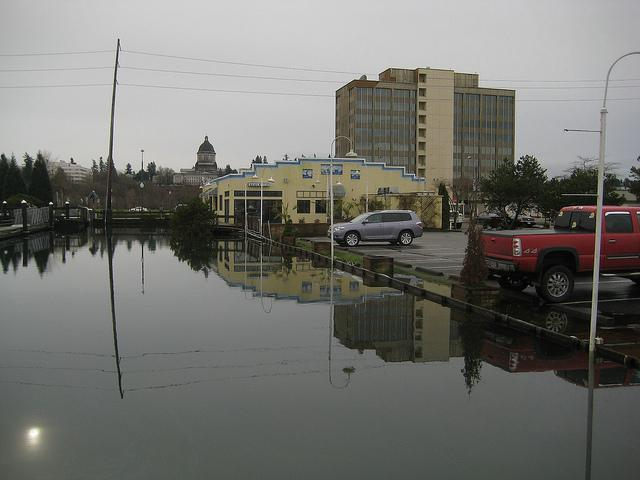 High tide in downtown Olympia, 12/28/10