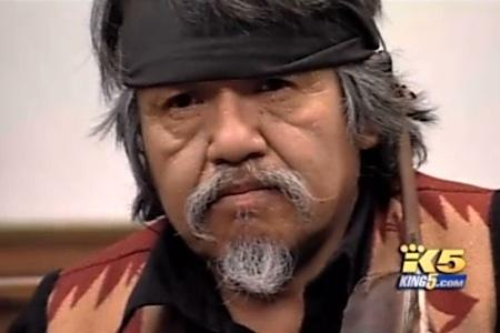 Rick Williams, brother of the native woodcarver shot by a Seattle policeman last August, testifies at an inquest, January 18, 2011 in Seattle. This image is a screen grab from KING-TV video.