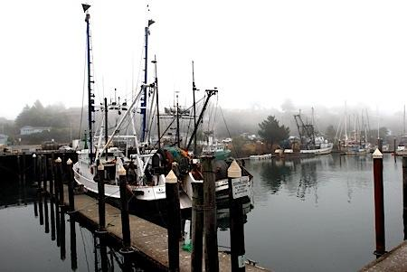 The fishing fleets along the US west coast are impacted by changes to fishing catch shares, or quotas. This is the southern Oregon port of Brookings, in 2009.