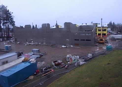 A new Baker Middle School is under construction next door to the old one in Tacoma's South End. This photo of the construction site was taken Thursday morning, Jan. 13, 2011. Will students have a new principal to go with a new school next year?
