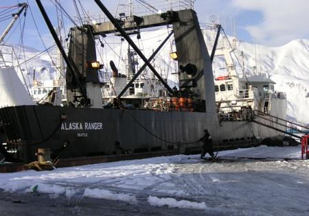 Alaska Ranger is seen at port in Dutch Harbor, Jan. 2006.