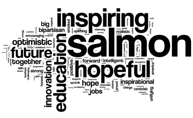 NPR asked listeners to describe President Obama's State of the Union speech in three words. More than 4,000 responded. NPR ran the responses through a word cloud generator and this is what came out.