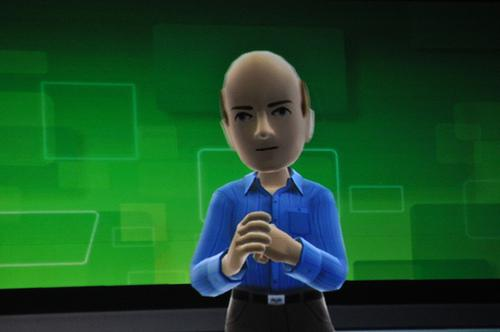Microsoft CEO Steve Ballmer's Xbox 360 Kinect avatar as seen at his CES 2011 keynote address