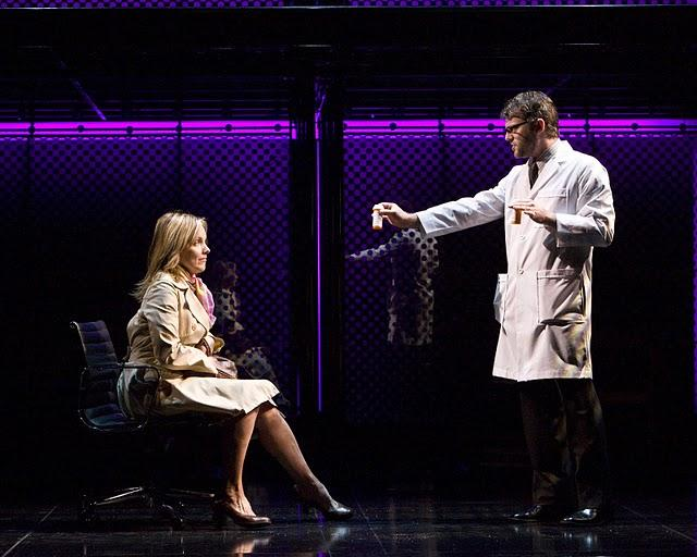 "Alice Ripley and Jeremy Kushnier in the national tour of ""Next to Normal.""  The show is written by Brian Yorkey, who together with composer Tom Kitt pulled off a surprizing win last year of the  Pulitzer Prize for drama."