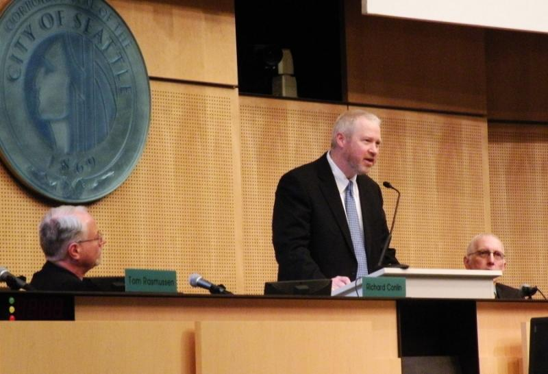 In his annual State of the CIty address, Mayor Mike McGinn said Seattle needs to think differently about police recruitment to improve the department.