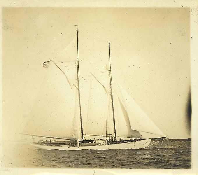 The pilot schooner Zodiac when it was owned by the Johnson family in the 1920s